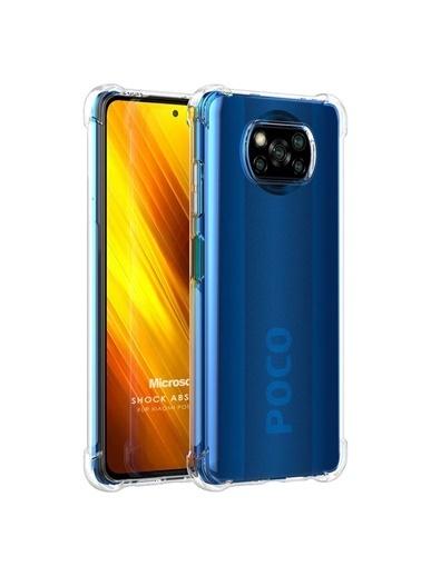 Microsonic Xiaomi Poco X3 Pro Kılıf Shock Absorbing Şeffaf Renksiz